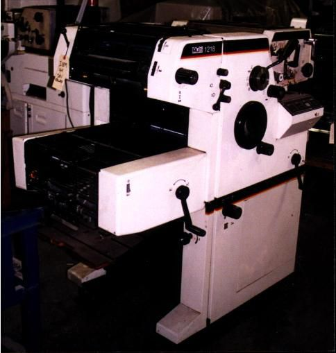 Multilith 1218 EL, 2 colors Offset machine