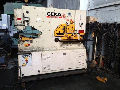 Geka HYD100SD, Dual Cylinder Hydraulic Ironworker Max. 100 Tons