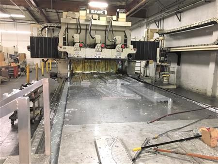 SNK 3-Spindle Gantry Profiler Fanuc 15MB 5-Axis