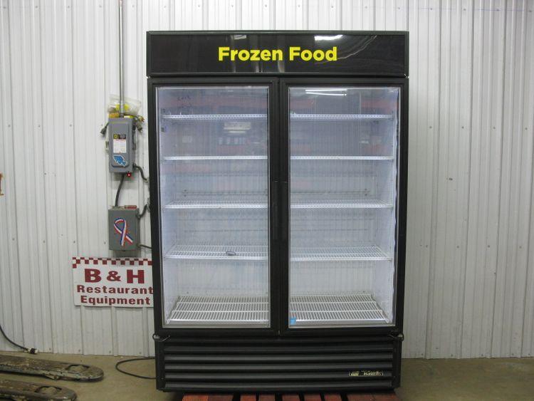 True GDM-49F-LD Glass 2 Door Merchandiser Reach In Freezer