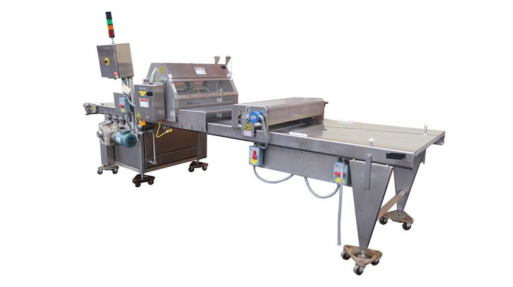 Moline 517 Guillotine Conveyor and Press Roller