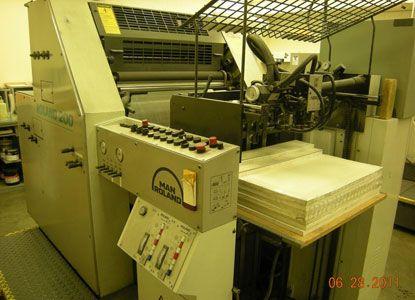 Roland 202. 2 Colors Offset Machine