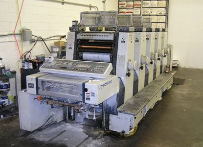 Komori L520. 5 Colors Offset Machine Max. 36 x 52 cm