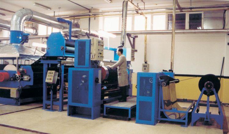 Aigle coating/lamination line, yoc: 1999, ww: 1.8 m