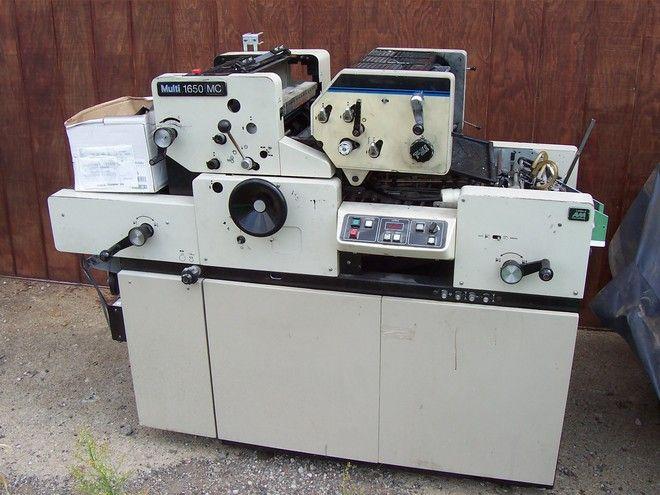 """Multilith 1650 MC, 2 colors Offset machine 13"""" X 17"""""""