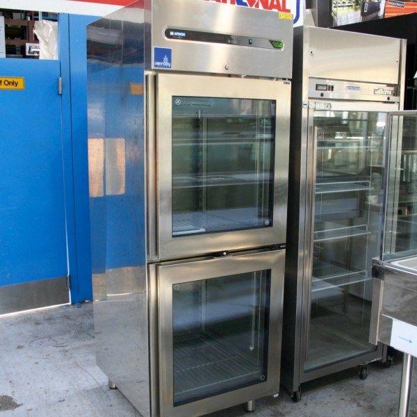 Others Single Door Upright Freezer with Glass Half Doors