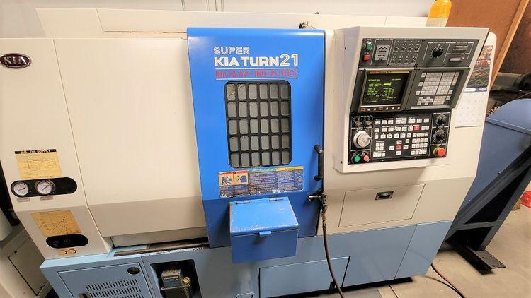KIA FANUC 21-T CNC CONTROL 4000 RPM SKT21 2 Axis