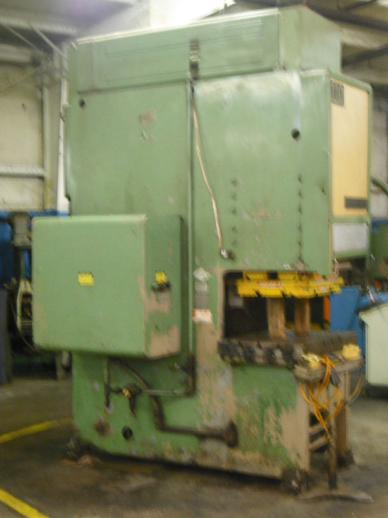 Cincinnati OBS110, Hydraulic Gap Frame Press Machine Max. 75 Ton