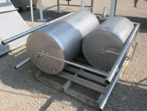 2 Others Single Shell Stainless Steel Tanks 50 Gallon And 100 Gallon