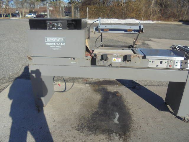 Beseler 2014-MB, L Sealer and Shrink Tunnel System 24 In. Wide x 8 In