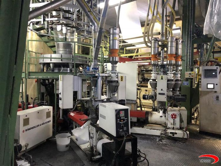 Reifenhauser, Windmoller & Holscher 5 layers Blown film extrusion line