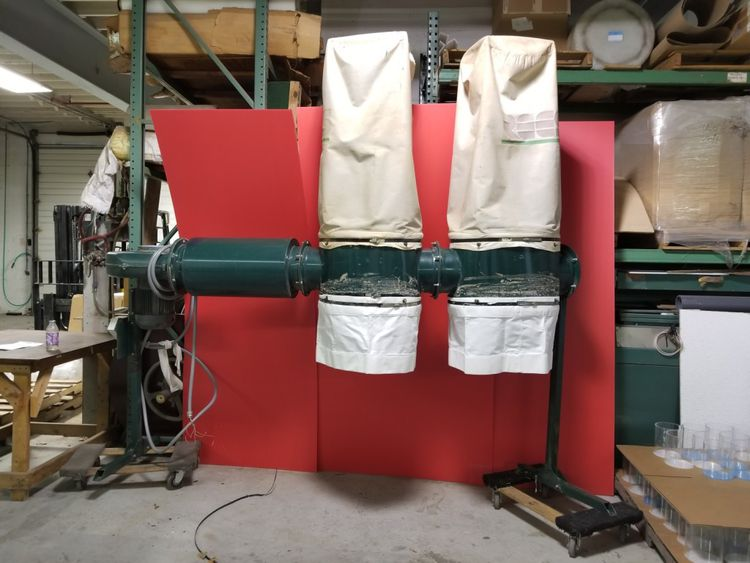 Rees C530-2, 2 bag dust collector with silencer