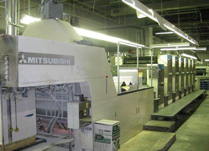 Mitsubishi 3F-6+LX, 6 Colors Offset Machine
