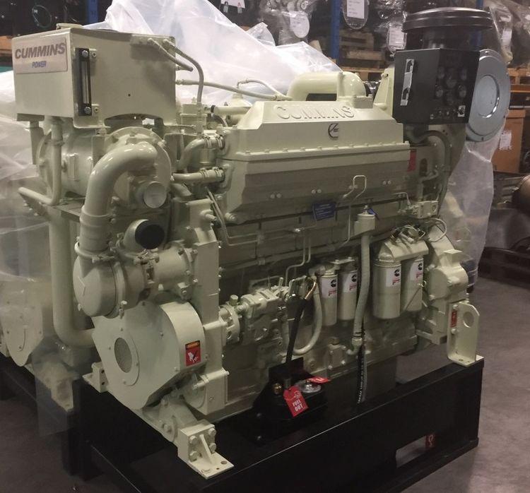 2 Cummins KTA19-M3 Diesel Marine Engine