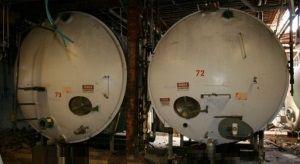 Pfaudler Horizontal Stainless Steel Tank 4,000
