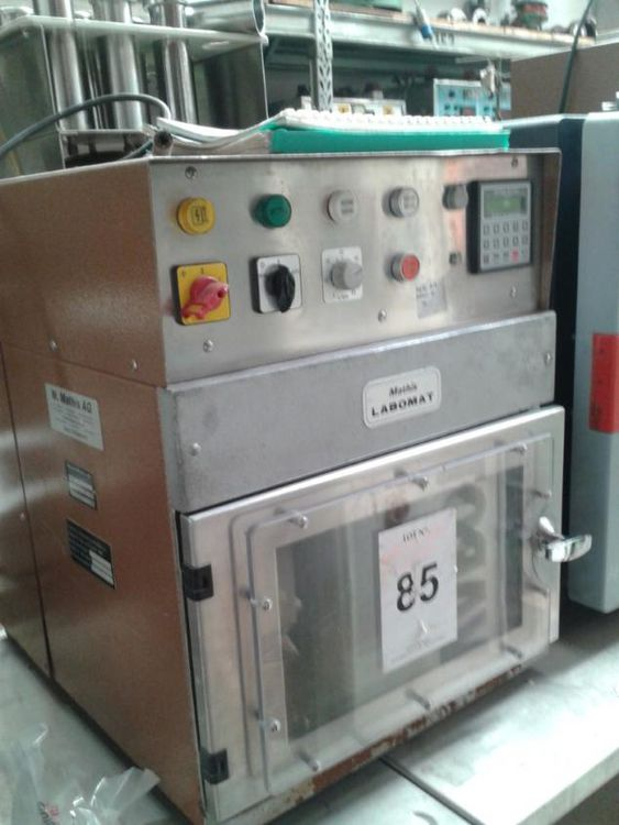 Werner-mathis BFA-8 18191, Sample infrared dyeing machine