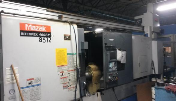 Mazak Mazatrol Fusion 640MT 3000 RPM Integrex 400SY with Gantry Load/Unload 2 Axis