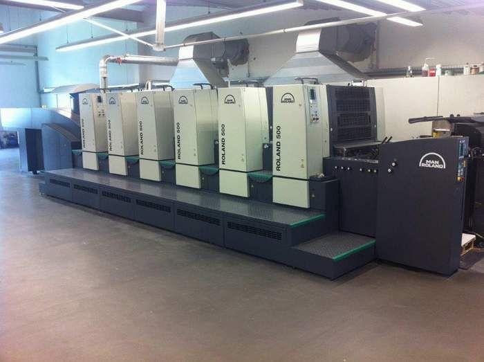 Roland 2003 / installed 2005 5 Colour Straight machine 530 x 740 mm