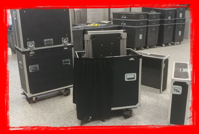 "5 Jelco ELU-50R Cases for 45""-50"" Monitors"