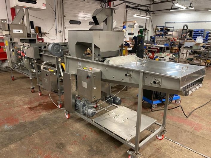 JBT line with preduster, batter and breading