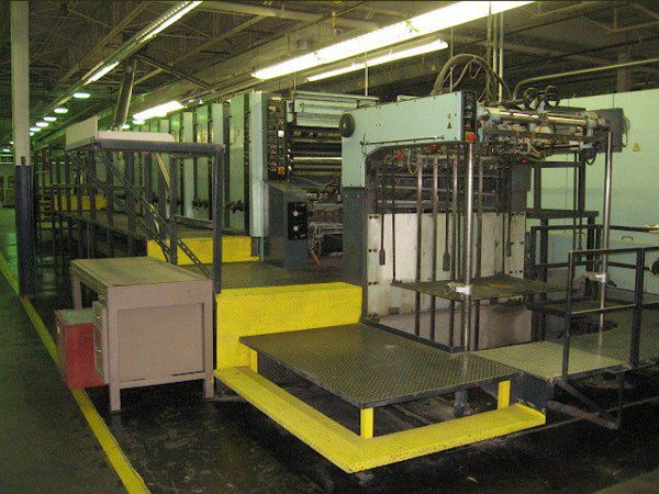 KBA PLANETA VARITREND 102-6 L, 6 colors Offset machine 72 X 102 Cm