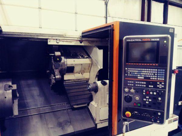 Mazak CNC Controller 1, 2 2000 RPM QT Nexus 450M-II/1000 CNC TURNING AND MILLING CENTER 2 Axis