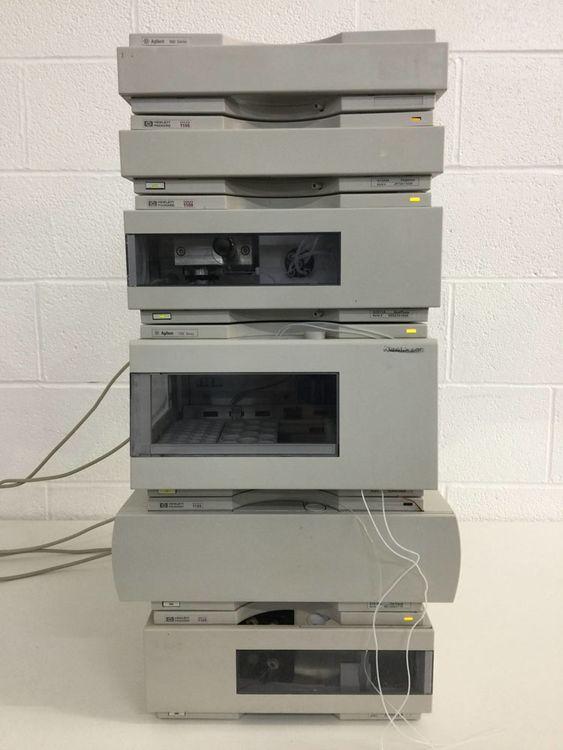 Agilent 1100 Series HPLC System - Degasser, Quat Pump, Analyt-FC, Col Comp & FLD