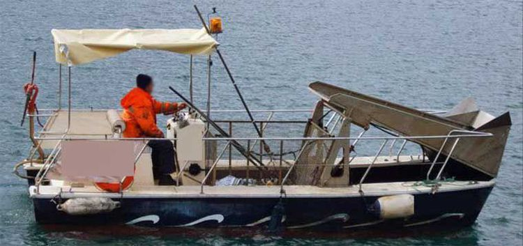 Society and Notation is Local Spanish Ship Inspectorate Antipollution & Solid Waste Cleaning Boat