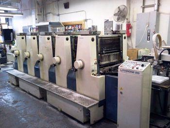 Komori L520, Offset Press 5 Colours Machine 14 x 20
