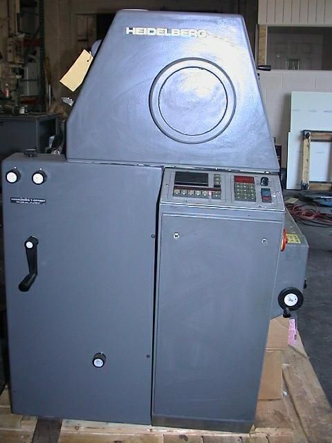 "Heidelberg TOK, 1 color Offset machine 11""x15"""