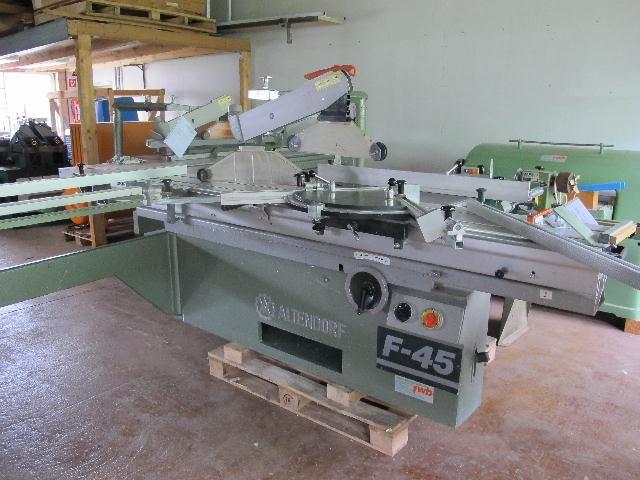 Altendorf F45, Cutting saw format