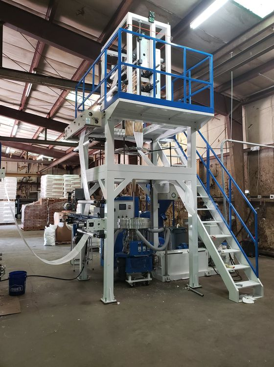 "Lung Meng 39"" Wide 55mm T Shirt Bag Extrusion Line"