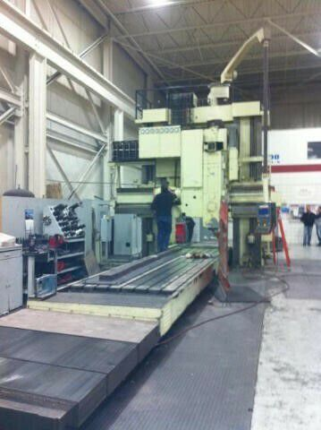 """Ingersoll 69"""" X 100"""" X 323"""" DOUBLE HOUSING 5-AXIS PLANER MILL 850 rpm"""