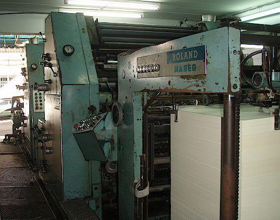 Roland RVP2C PARVA, 4 colors Offset machine 64 X 91.5 Cm