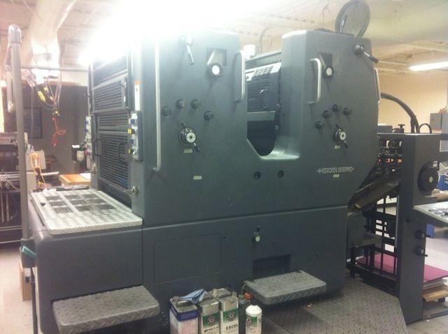 Heidelberg SORMZ, Offset 2 Colours Press Printing Machine 20x29
