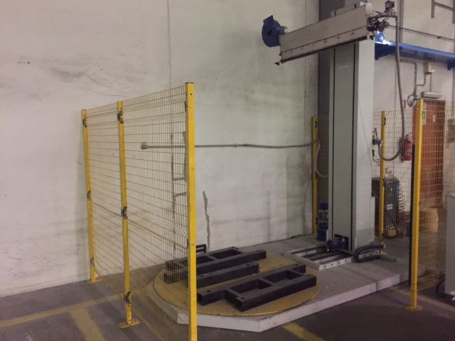 Automatic Oven for pallet wrapping with shrinkable polyethilene, 2011 & ALMOST UNUSED !