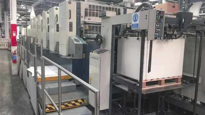Komori L640+CCX 28 x 40 inch
