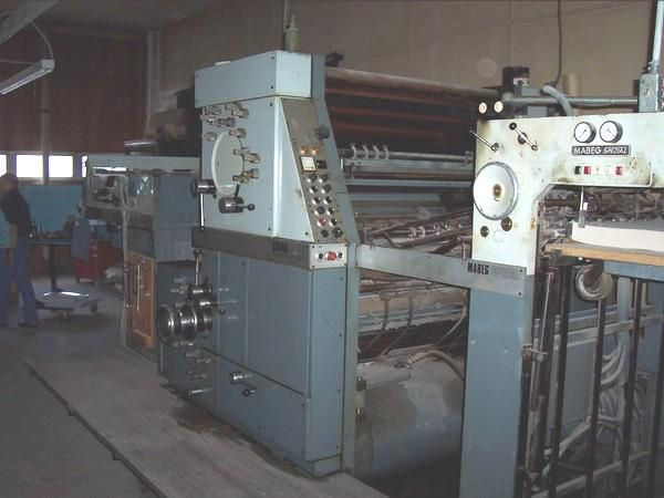 "Solna 240, 2 colors Offset machine 28"" X 40"""