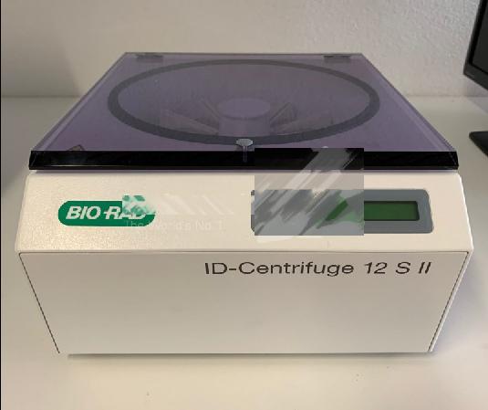 Biorad 12 S II centrifuge