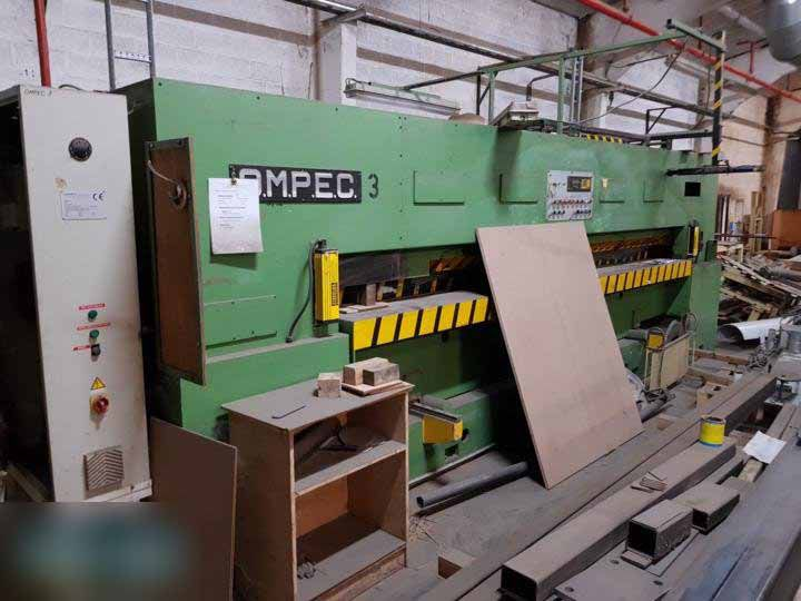 Ompec TRO/2L/10 CE 400/3200, Double knife veneer pack guillotine