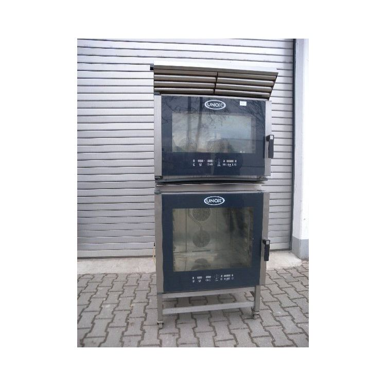 Unox XBC 405 double oven on rollers
