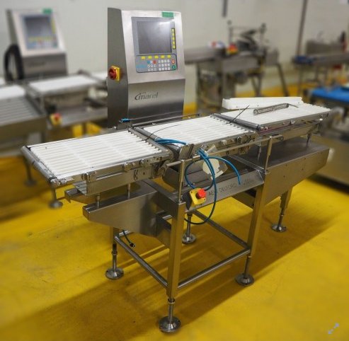 Marel G1000 checkweigher with ejector