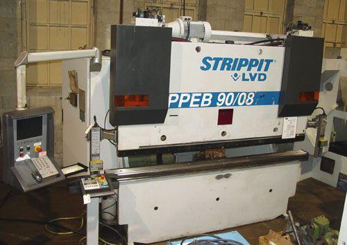 """LVD, Strippit 90 TON X 96""""  CNC HYDRAULIC PRESS BRAKE Model PPEB 90/08 90 TON"""