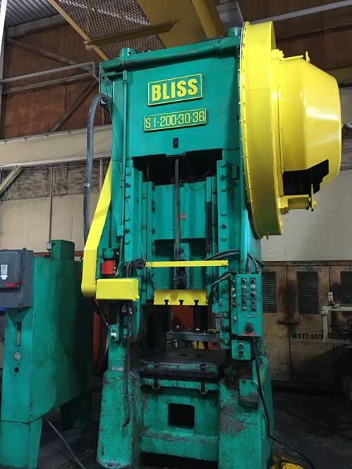 Bliss S1-200-30-36 Max. 200 Ton