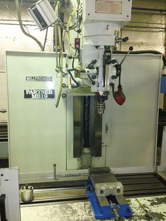 Milltronics MB19-A 3-Axis CNC Bed Mill 4500 RPM