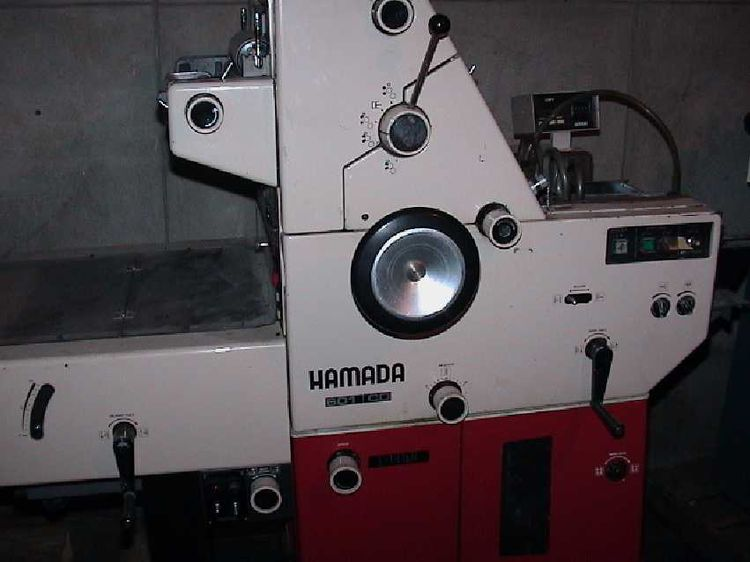Hamada 601, 1 color Offset machine