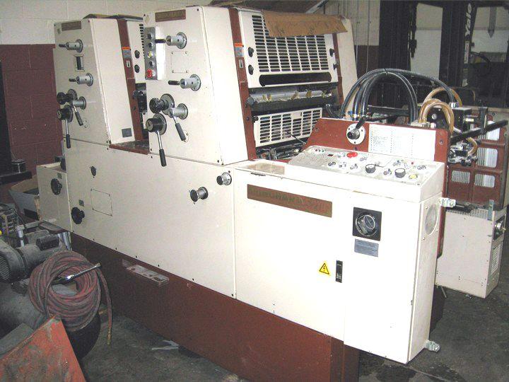 "Shinohara 52 IIP, 2 colors Offset machine 20-1/2"" X 14 -3/16"""