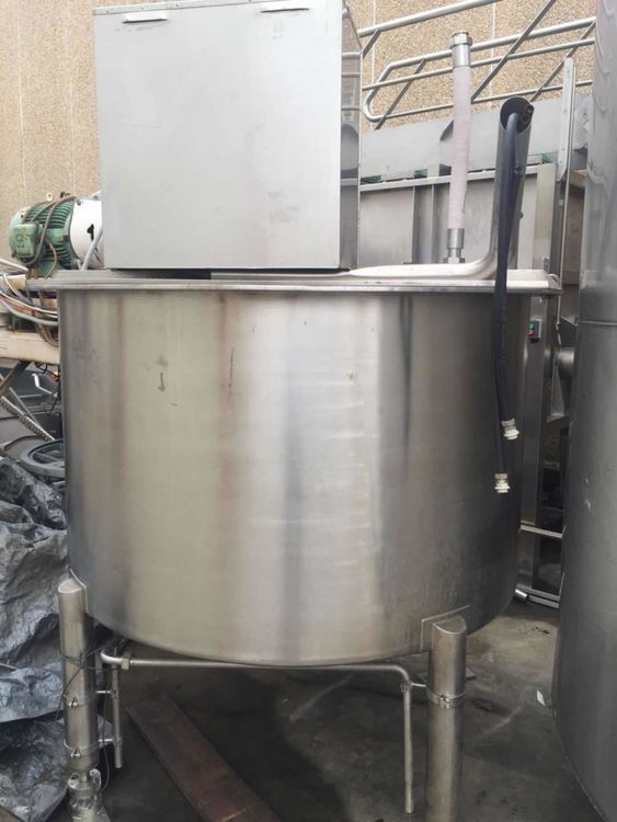 Other 1,800 L Stainless Steel Mixing Tank Scraped Surface