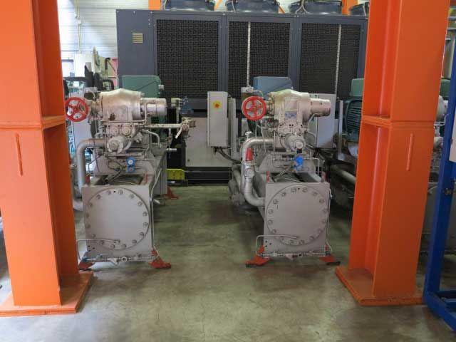 2 Sabroe SAB 128HF 84 kW/25 tons