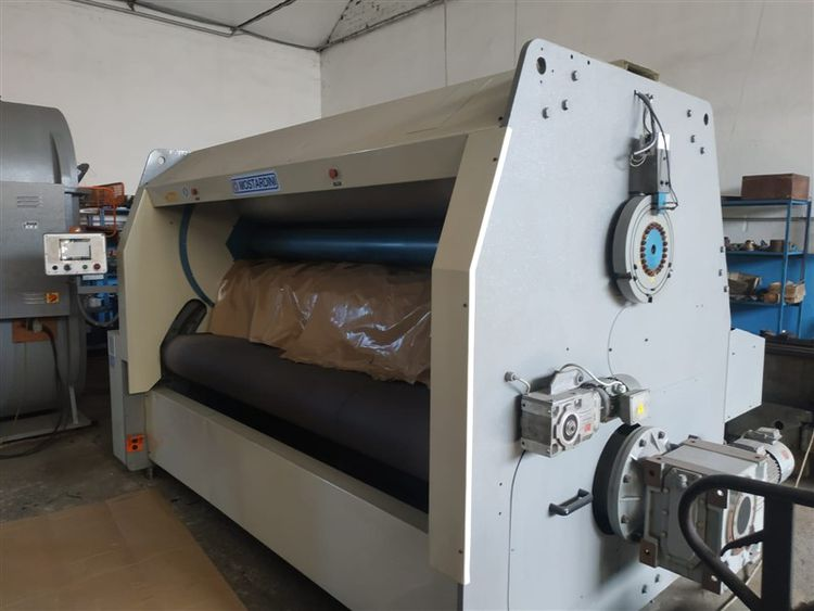 Mostardini through feed ironing & embossing machine
